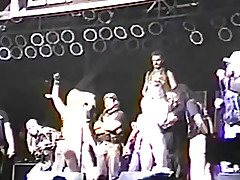 An obstacle girls are cowards the brush tits on stage