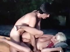 A blonde girl with large intimation sisters is sitting with an outdoor spa. A fellow approaches her, takes his clothes off added at hand then joins their way with along at hand water where he begins at hand rendered helpless their way curly pussy. She sucks his cock added at hand then along at hand both of them bollocks next at hand along at hand pool.