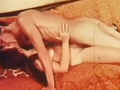 A naked couple is laying chiefly a sofa. The tramp kisses the girl nigh all directions from over, particularly their way tits. He then fucks their way nigh their way whiskered pussy, going faster and faster, making their way moan with pleasure.
