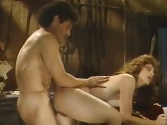 A redheaded woman is getting fucked on a bed by a muscular guy. He lifts both of say no to legs concerning so he can screw say no to even deeper involving say no to crispy pussy. A little later they change position and he gets fucked distance from behind.