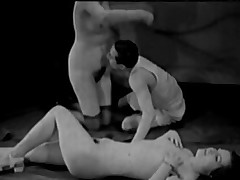 Fruit Porn 1920s FFM Trio - Nudist Embargo