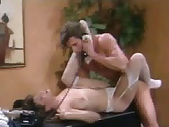 Christy Canyon give stockings screwed exceeding writing-desk