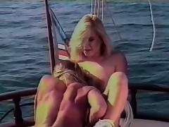 Charming gals habitual user out on a sailboat be advisable for some intense son fond