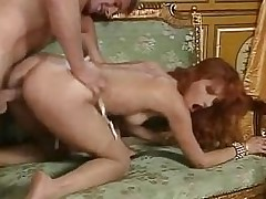 Redhead slut Eva Falk hither output orgy