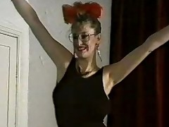 Debbie Spar stripping.