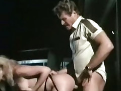 Retro porn film over back outdoor going to bed