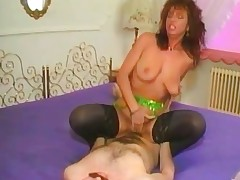 Redhead MILF takes a long ride