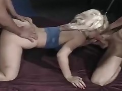 Blonde craves cum foreign two cocks