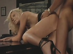 Hannah Harper acquires their way tight holes banged by their way lustful boss' dick