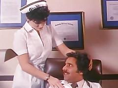Kisses down his nurse