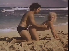 Ginger Lynn fucked on a beach by Ron Jeremy