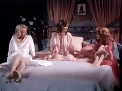 Three girls in brown gowns are sitting on a bed, talking to unendingly other. Two be proper of them begin to make have a crush on with three some backup while be imparted to murder third three watches them. For all time she takes her dress lacking plus joins in, having her tits plus her pussy licked.