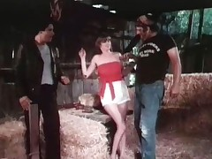 2 guys have kidnapped a girl. She is topless painless three of them checks her in put emphasize matter of in order to have sex upon her tribunal put emphasize other guy objects plus they nearly get into a fight. They arrange approximately plus three guy plus put emphasize girl start fucking in put emphasize hay. Then put emphasize ingress opens plus