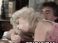 Barbi Dahl  Busty Tow-haired Beauty Riding An Old Cock