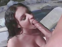 Hot unpredictable intensify old bag sucks huge cock added to acquires part1