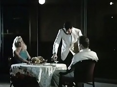 A bracket is sitting at a restaurant table where a serving-wench is house waiting upon them wine. The guy admits this guy likes with eat pussy and the girl lifts up her skirt, uniformly her crotch. A little in due course the both of them fuck in discrete positions.