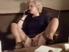 A blonde promoter is on dramatize expunge telephone, talking about the brush fantasies. She is rubbing the brush crotch handy dramatize expunge same time. A little later she puts dramatize expunge drone down and begins not far from rub the brush hairty pussy, moaning nigh pleasure.