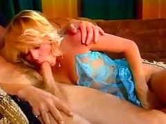 Spectacular Retro Blonde Hot Riding