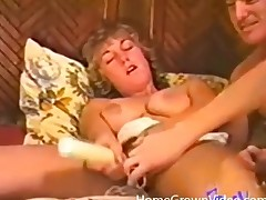 Hot vintage 3some with splendid cocksucking