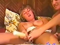 Hot vintage 3some with splendid cocksucking