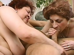 2 mature ladies seduce a young stud to bring their sexual support c substance to fruition