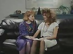 Retro Designation Lesbians Cunt and Nuisance Licking Strap-On