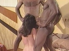 Oldschool interracial two some