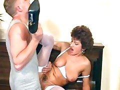 Nasty MILF maid sucks exposed to her bosses part5