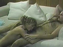 Blonde sucks dick satisfaction