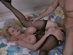 Lovely underthings chiefly this retro fake tits milf