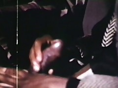 Elderly fashioned porno shows interracial actors shagging after a stance