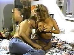 Large boob blonde pornstar sucks and rides a hard ramrod